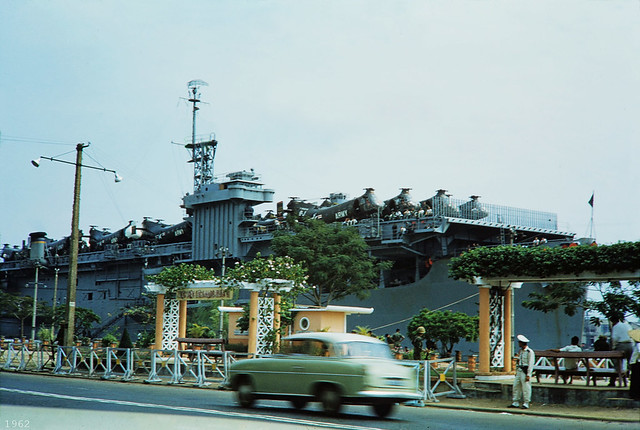 Navy Aircraft Transport USNS Core (T-AKV-41) Saigon 1962