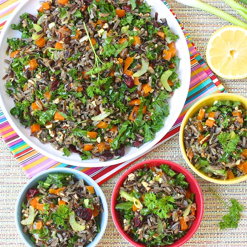 Wild Rice Summer Salad via MealMakeoverMoms.com/kitchen