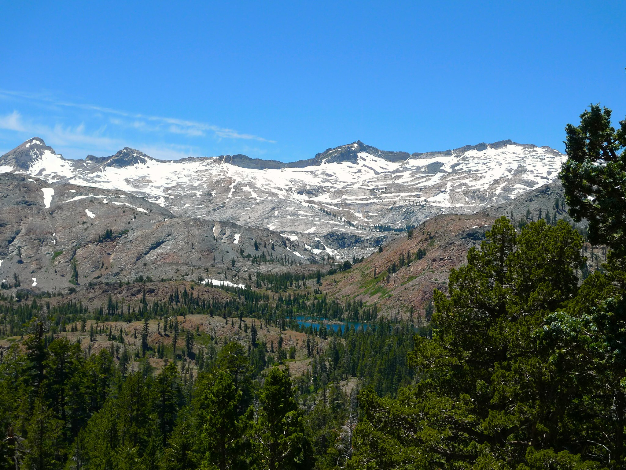 As we gain elevation towards Dick's Pass, the views back towards Susie Lake and the Crystal Range open up