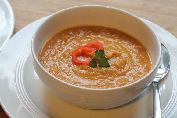 Süßkartoffel-Lauch Suppe