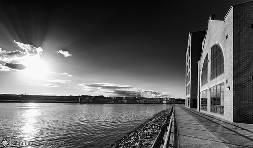 sunset sea bw reflection clouds canon silver photography shadows silent eagle south north tyne wear east sep tyneside shields copyright© silenteaglephotography silenteagle09 mg8616bw
