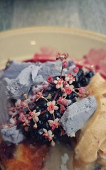 #pancakes #blueberries #elderflower #violet #merange #m1lk #balham #brunch #lg #g4