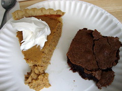 Slice Of Pie And A Brownie.