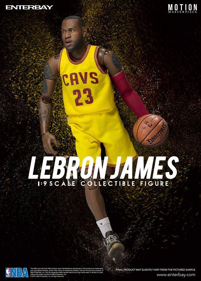 你好!我姆斯啦!!ENTERBAY – NBA 系列【雷霸龍.詹姆斯】小皇帝 LeBron James 1/9 比例人偶作品