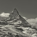 The Matterhorn , the Symbol of Switzerland. a view from the train to Gornergrat from Zermatt .No, 4335.
