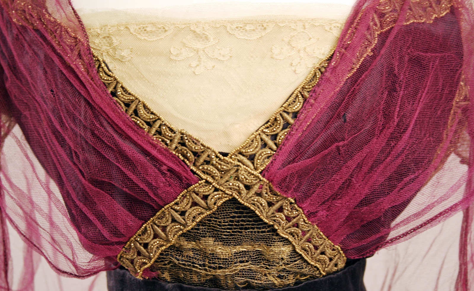 1911. Callot Soeurs. Silk, cotton, metallic thread, metal beads. metmuseum