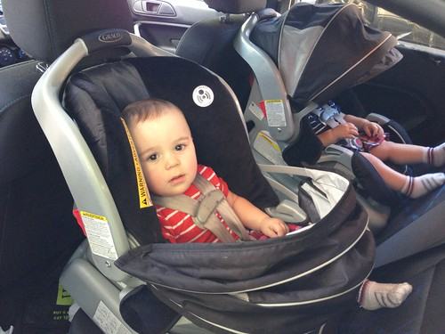 More Elliott Mischief in Car Seat