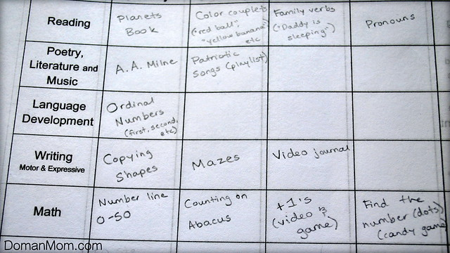 Plan for Week 6.23.13 (toddler, age 2y0m)