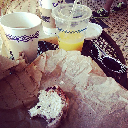 Sunday morning bagel date!