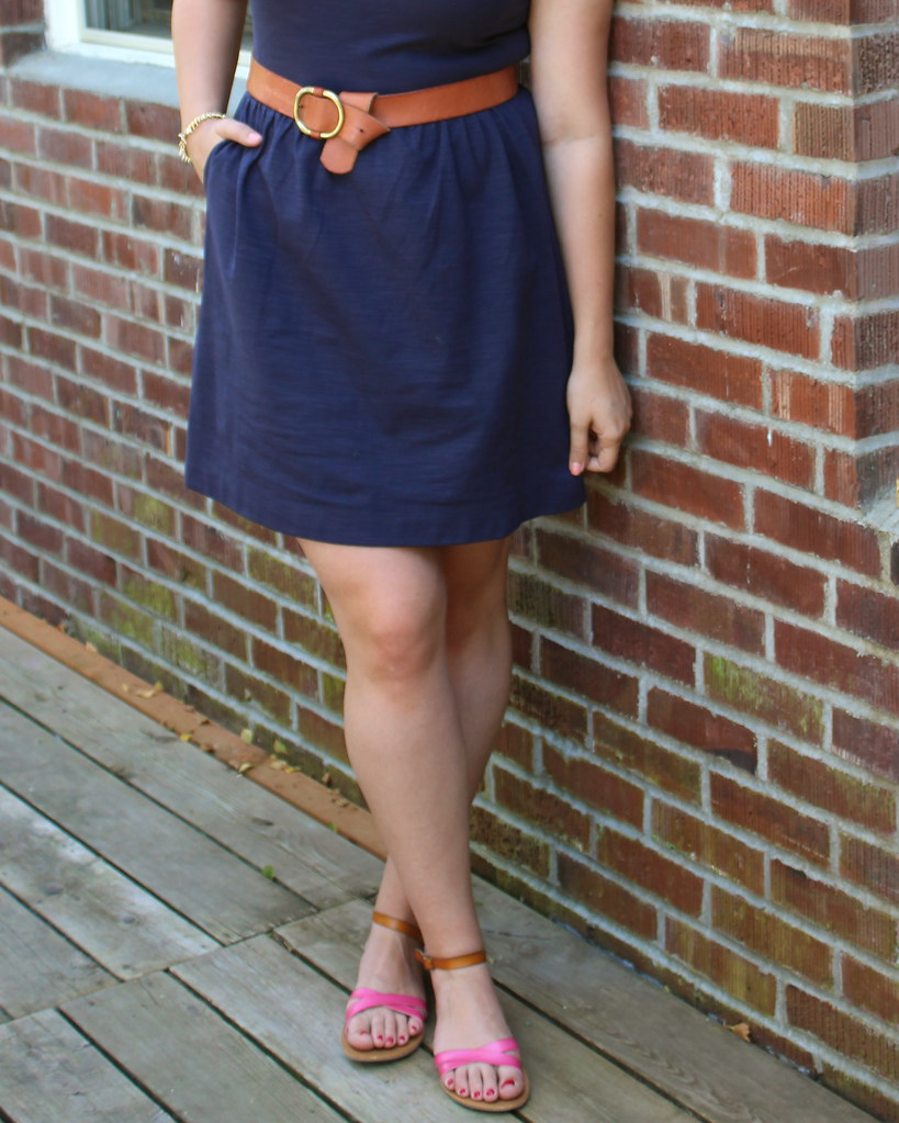 Madewell Afternoon Dress gap round belt how to wear navy dress