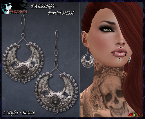 P Inca Moon Earrings (P-MESH)