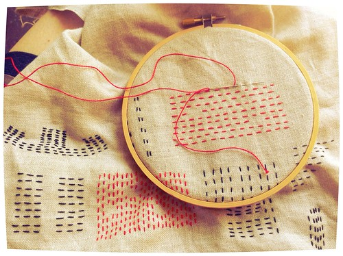 Daily embroidery in progress
