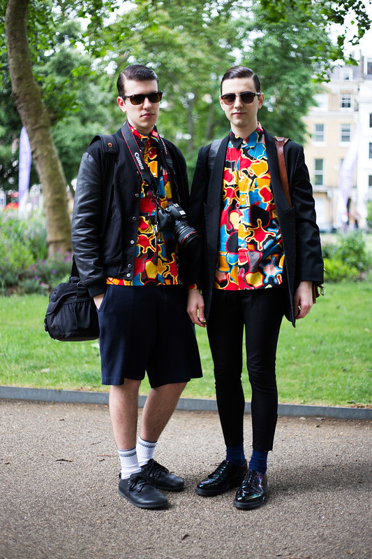 Street Style - Alberto & Stefano, London Collections: Men