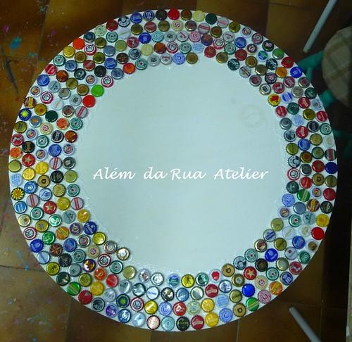 Como fazer mosaico com tampinhas - Faça você mesmo