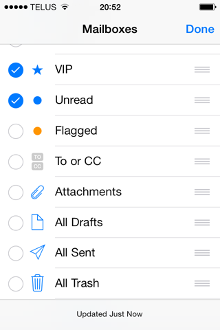 Mailbox reorganization