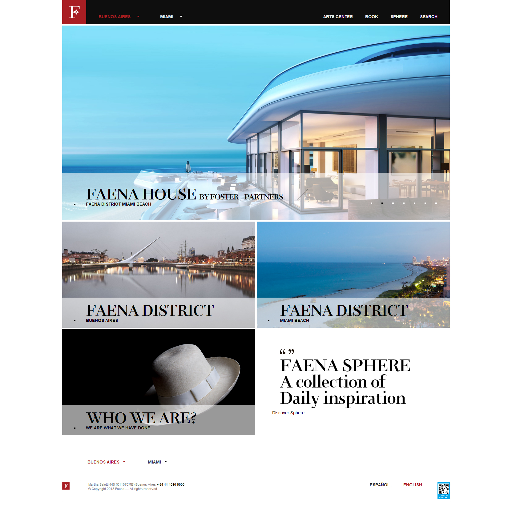 Website Inspiration - Faena Hotel