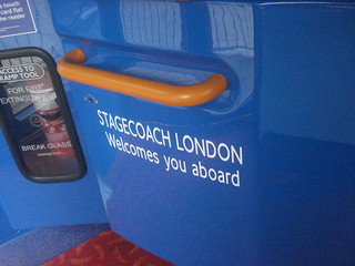Stagecoach London Welcomes You Aboard. On Enviro 200s.
