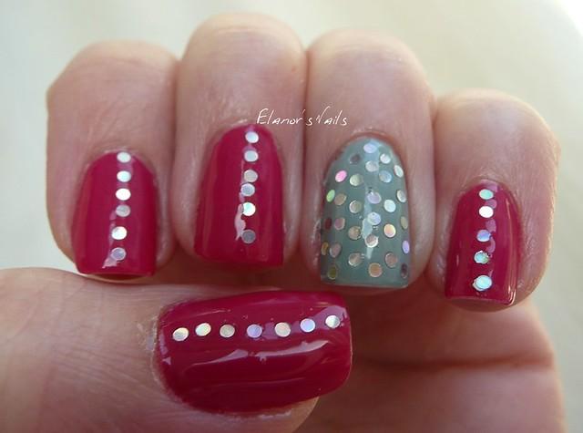 raspberry bavarois + silver glitter 2