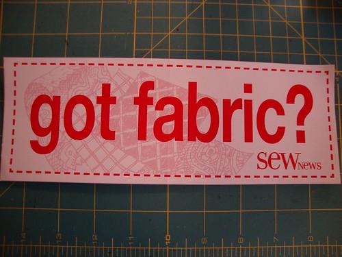 Got fabric?