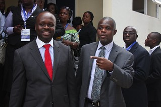Dr. Baffour, Vice President of GTUC with the Min of Communications