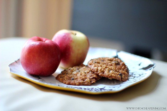 Applesauce cookies with apples front - saved by Chic n Cheap Living