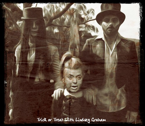 TRICK OR TREAT WITH LINDSEY GRAHAM by WilliamBanzai7/Colonel Flick