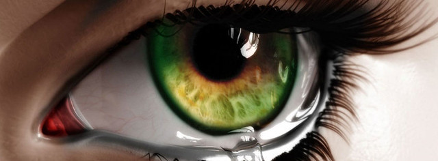 Crying Eye Facebook Cover Photo