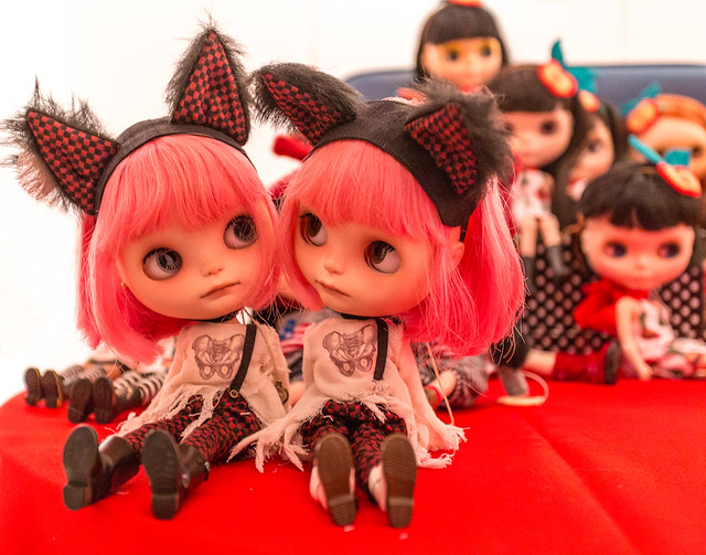 Roz & Olga's twins at Blythecon New York 2013