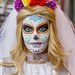 DSC07064 - Bride with Dia de los Muertos Makeup by loupiote (Old Skool) pro