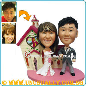Uu 3D Custom Trendy Wedding Couple Figurines - @www.unusually.com.sg