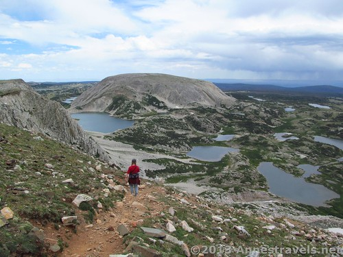 Hiking down from Medicine Bow Peak - note all the lovely lakes! Medicine Bow National Forest, Wyoming