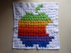Crochet Apple logo 3 - sewn together