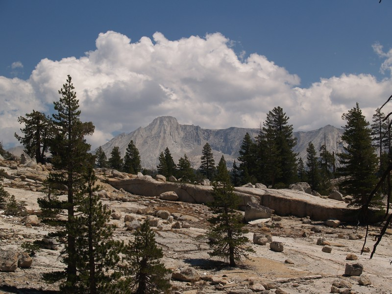 Clouds over Mount Conness from the PCT