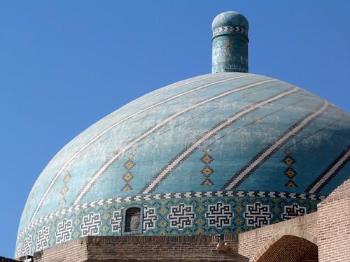 Cúpula de la Mezquita del viernes de Qazvin (Irán)