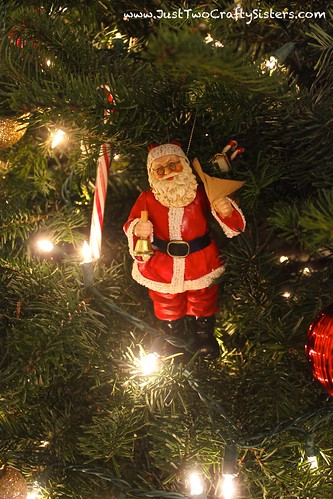 Christmas tree santa ornament