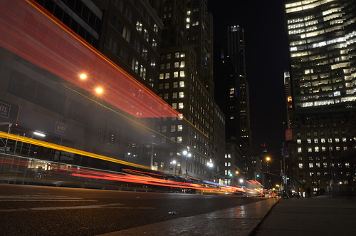 5th avenue, nyc light trails (photo no. 4) - unedited