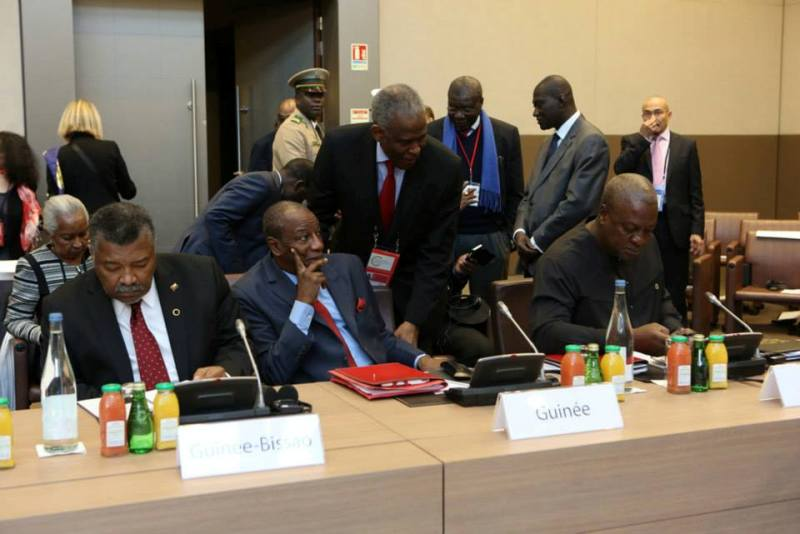 John Mahama & Wife Lordina @ Elysee Peace Summit