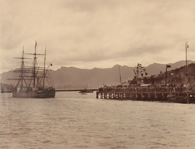 Scott's Expedition Leaving for Antarctica - 1901