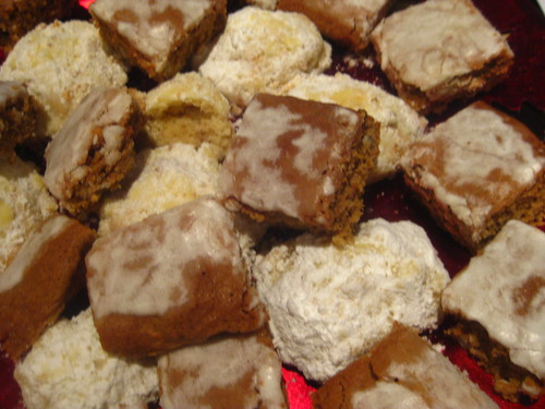 lebkuchen and Russian tea cakes