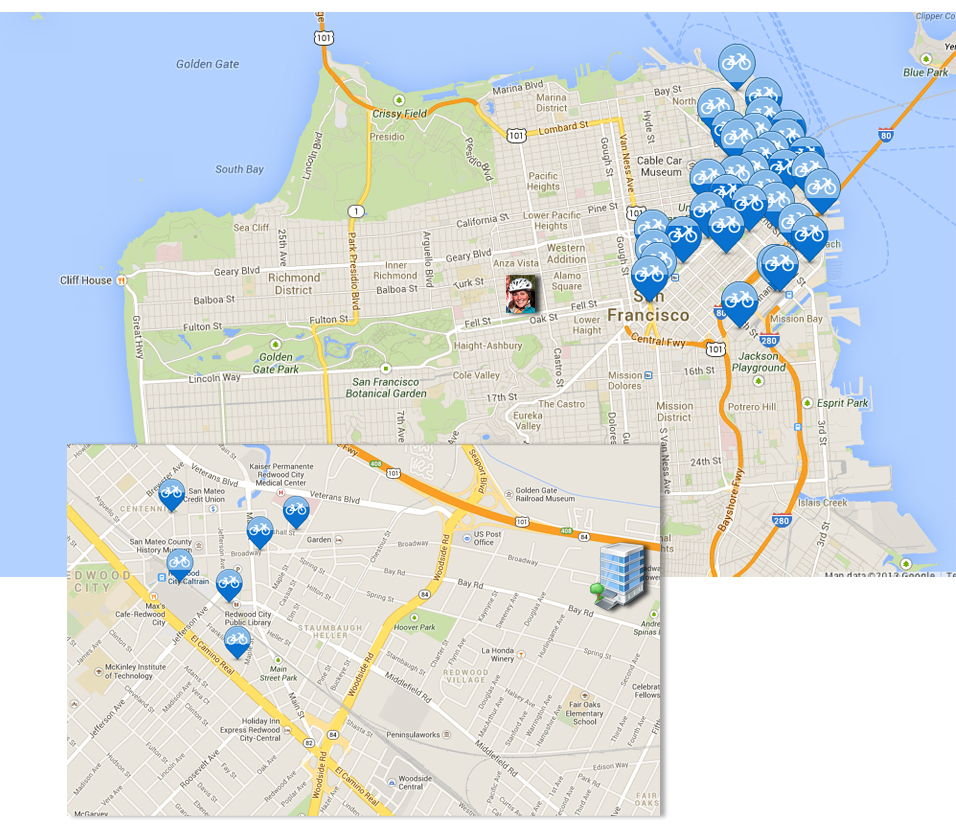 Bay Area Bike Share Locations