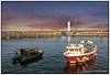 Newhaven Harbour Under A Blood Red Sky by Giovanni Giannandrea