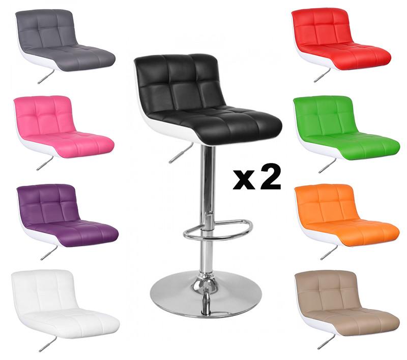 lot de 2 tabourets de bar design majesty neuf ebay. Black Bedroom Furniture Sets. Home Design Ideas