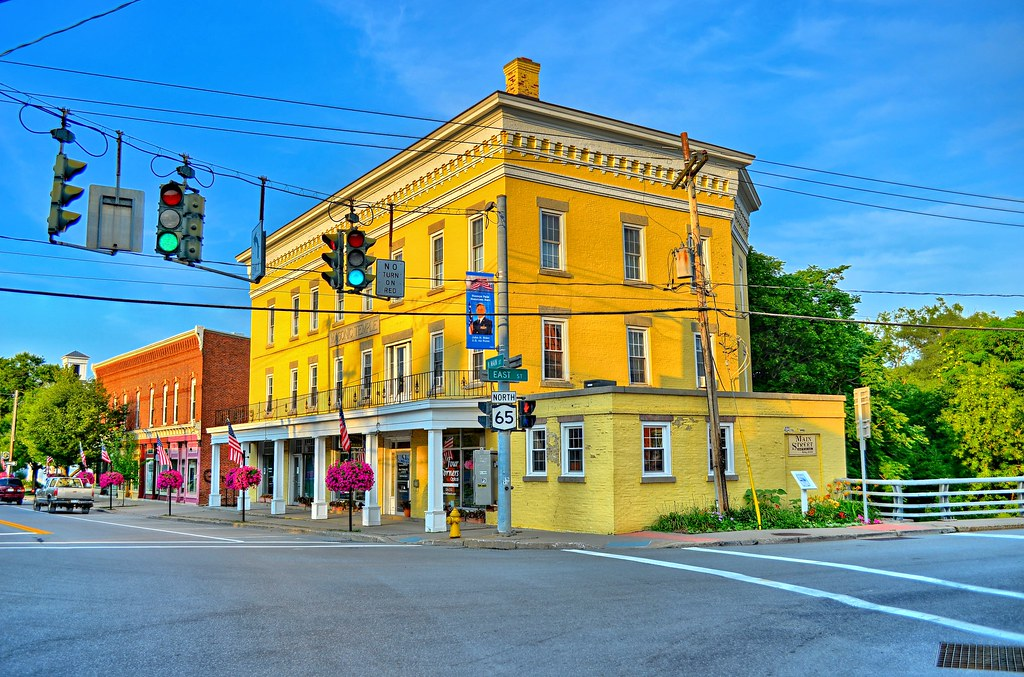 Masonic Temple Building Honeoye Falls NY