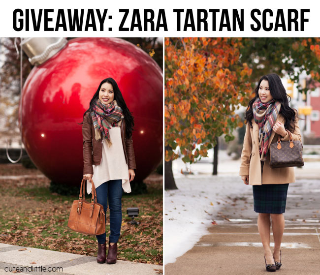 cute & little blog | Zara Scarf giveaway