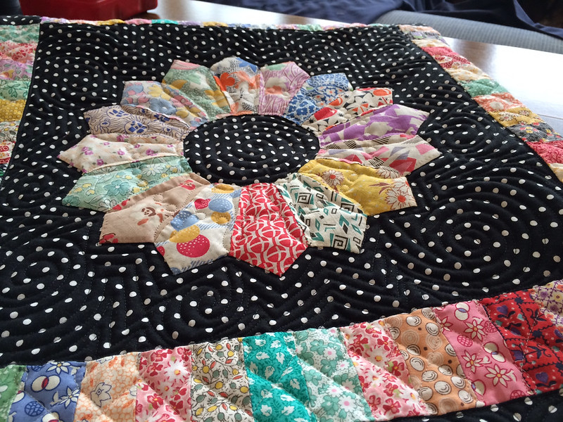 January 1, 2014, a finished quilt