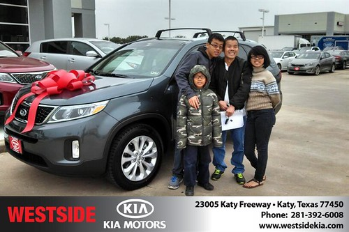 Thank you to Waiting Yin Fung on your new 2014 #Kia #Sorento from Gil Guzman and everyone at Westside Kia! #LoveMyNewCar by Westside KIA