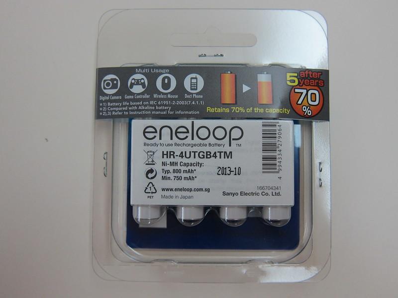 Eneloop Rechargeable AAA Battery Pack - Packaging Back