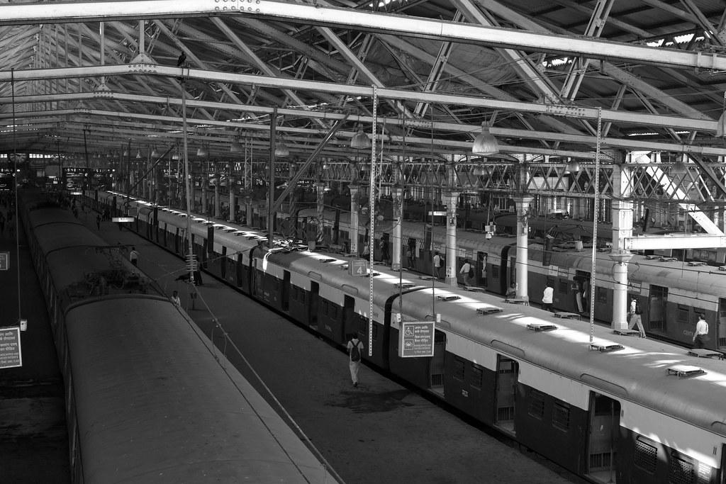 The main Mumbai train station