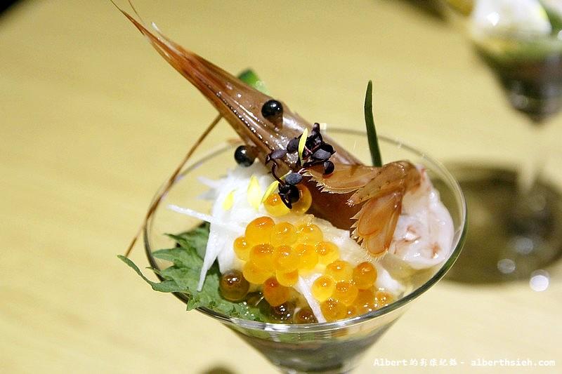 台北大同.若獅子和食:牡丹蝦山藥細麵