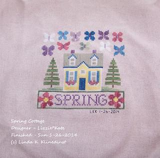 100_9076 - Spring Cottage - Designer - Lizzie And Kate - Finished Sunday Jan 26 2014